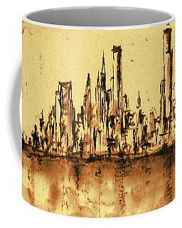 New York City Skyline 79 - Water Color Drawing Coffee Mug