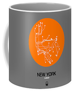 New York Orange Subway Map Coffee Mug