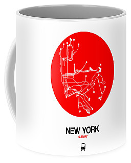 New York Red Subway Map Coffee Mug