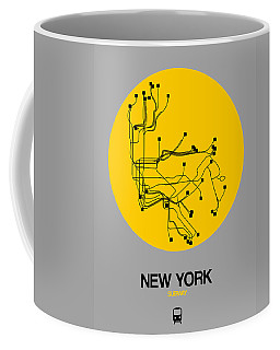 New York Yellow Subway Map Coffee Mug
