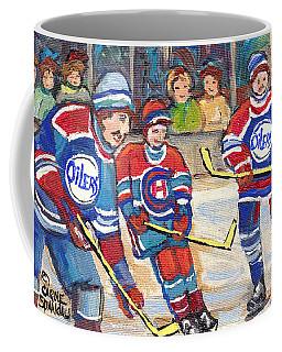 Nhl Hockey Games From The Forum To Bell Center Hockey Town Montreal Canadiens C Spandau Hockey Art   Coffee Mug
