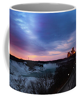 Coffee Mug featuring the photograph Niagara Falls At Sunrise by Lora J Wilson
