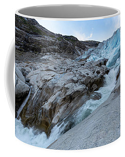 Coffee Mug featuring the photograph Nigardsbreen, Norway by Andreas Levi