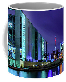 Coffee Mug featuring the photograph Night In Berlin by Dmytro Korol