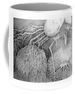 Coffee Mug featuring the drawing Nightmare by Rosanne Licciardi