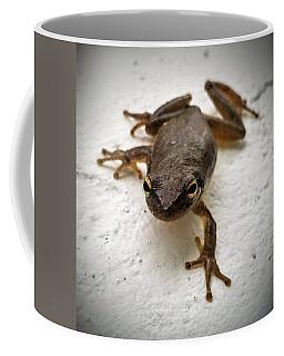 Coffee Mug featuring the photograph Ninja Frog by Vincent Autenrieb