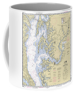 Chesapeake Bay, Cove Point To Sandy Point Nautical Chart Coffee Mug
