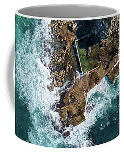 Coffee Mug featuring the pyrography North Curl Curl Pool by Chris Cousins
