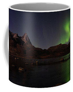 Northern Lights Aurora Borealis In Norway Coffee Mug