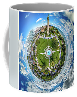 Coffee Mug featuring the photograph Northpoint Water Tower Little Planet by Randy Scherkenbach