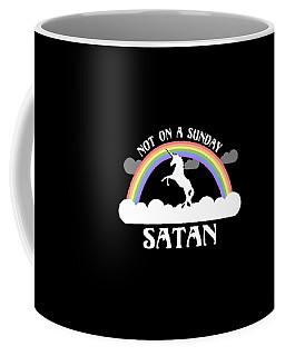 Not On A Sunday Satan Coffee Mug