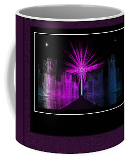 Nova Over Tron City Coffee Mug