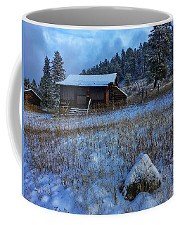 Coffee Mug featuring the photograph November Cabin by Dan Miller