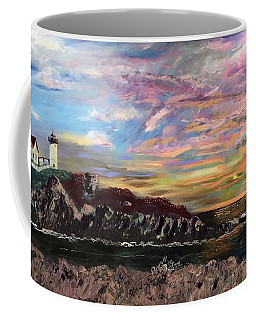 Nubble At Sunrise Coffee Mug