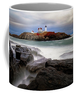 Coffee Mug featuring the photograph  Nubble Lighthouse, York Me. by Michael Hubley