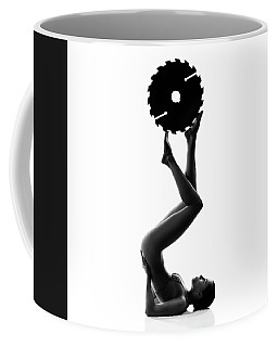 Nude Woman With Saw Blade 2 Coffee Mug