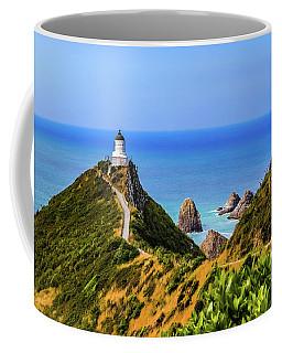 Nugget Point Lighthouse, New Zealand Coffee Mug