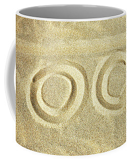 Coffee Mug featuring the photograph O C In The Ocean City Sand by Bill Swartwout Fine Art Photography