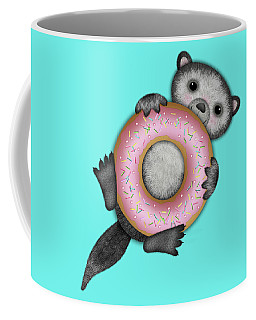 O Is For Otter With An O So Delicious Doughnut Coffee Mug