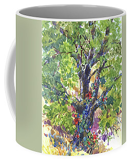 Coffee Mug featuring the painting Oak And Poison Ivy by Judith Kunzle