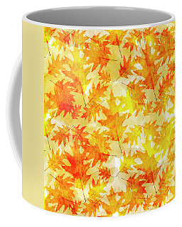 Oak Leaf Pattern Coffee Mug
