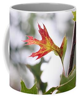 Oak Leaf Turning Coffee Mug