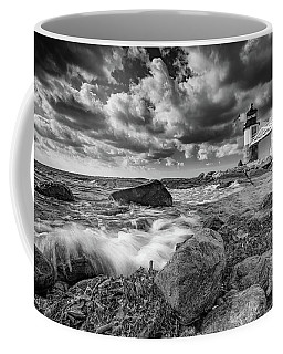 Coffee Mug featuring the photograph October Morning At Marshall Point In Black And White by Rick Berk