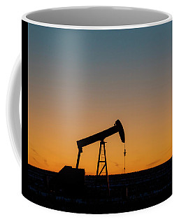Coffee Mug featuring the photograph Oil Pump After Sunset 03 by Rob Graham