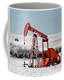 Coffee Mug featuring the photograph Oil Pump And Frost 01 by Rob Graham