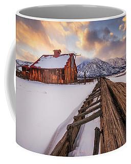 Old Barn In Sierra Sunset Light Coffee Mug