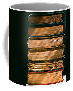 Coffee Mug featuring the photograph Old Books by Carl Young