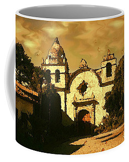 Old Carmel Mission - Watercolor Painting Coffee Mug