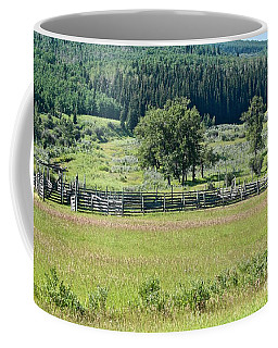 Coffee Mug featuring the photograph Old Corral by Ann E Robson