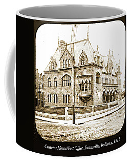 Old Customs House And Post Office, Evansville, Indiana, 1915 Coffee Mug