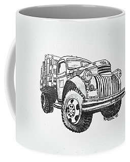 Old Farm Truck - Graphite Pencil Coffee Mug