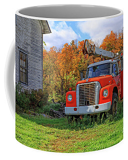 Old Fire Truck In Vermont Coffee Mug