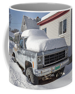 Old Gmc Pickup Truck In The Snow Windsor Vermont Coffee Mug