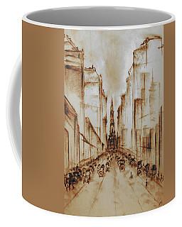 Old Philadelphia City Hall 1920 - Pencil Drawing Coffee Mug