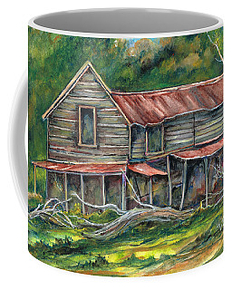 Coffee Mug featuring the painting Old Spooky by Val Stokes