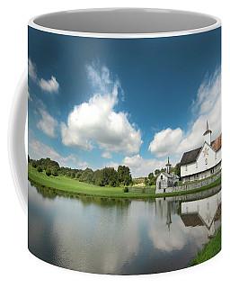 Old Star Barn And Pond Reflection Coffee Mug