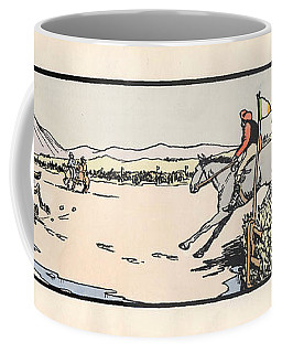 Coffee Mug featuring the painting Omey Races, Galway by Val Byrne