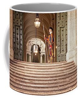 On Guard At The Vatican Coffee Mug