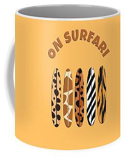 On Surfari Animal Print Surfboards  Coffee Mug