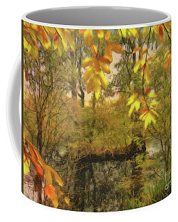 Coffee Mug featuring the photograph Once A Pond A Time by Leigh Kemp