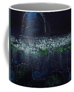 Coffee Mug featuring the painting Once In A Blue Moon by Kim Nelson