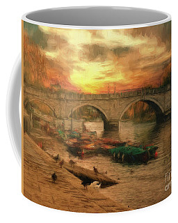 Coffee Mug featuring the photograph Once More To The Bridge Dear Friends by Leigh Kemp