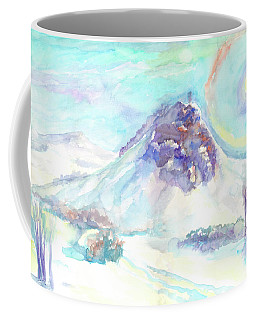 Coffee Mug featuring the painting Optical Phenomenon - Halo by Dobrotsvet Art