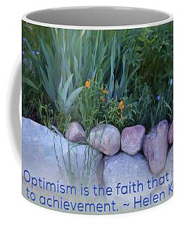 Optimism - Motivational Flower Art By Omaste Witkowski Coffee Mug