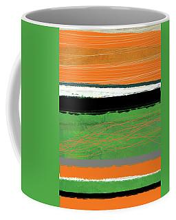 Orange And Green Abstract II Coffee Mug
