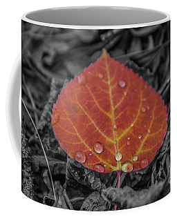 Orange Aspen Leaf Coffee Mug
